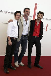 Elijah Wood, Liev Schreiber and Eugene Hutz at the photocall of