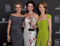 Jessalyn Gilsig, Janie Bryant and Jayma Mays at the 12th Annual Costume Designers Guild Awards.