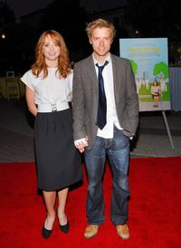 Jayma Mays and Adam Campbell at the LA premiere of