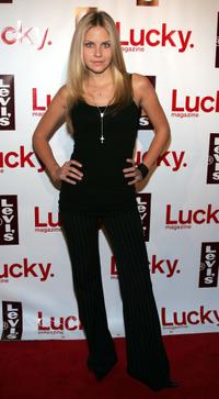 Nikki Griffin at the opening of the new Levi's Store in Beverly Hills.