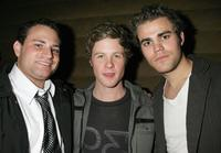 Director Matthew Cole Weiss, Ashton Holmes and Paul Wesley at the after party of the premiere of