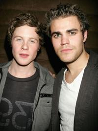 Ashton Holmes and Paul Wesley at the after party of the premiere of
