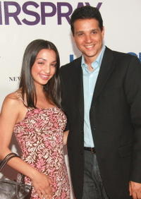 Ralph Macchio and his daughter Julia at the 'Hairspray' premiere at the Ziegfeld Theatre.