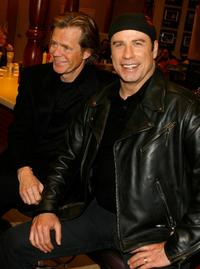 William H. Macy and John Travolta at the red carpet for the premiere of