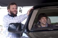 Director Ruben Fleischer and Jesse Eisenberg on the set of