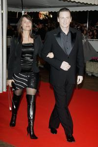 Benoit Magimel and guest at the 2007 NRJ Music Awards during the Palais des Festivals.