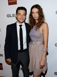 Rami Malek and Angela Sarafyan at the 8th Annual GLSEN Respect Awards in California.