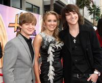 Jason Earles, Emily Osment and Mitchell Musso at the premiere of