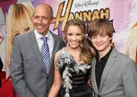 Director Peter Chelsom, Emily Osment and Jason Earles at the premiere of