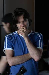 Director James Marsh on the set of