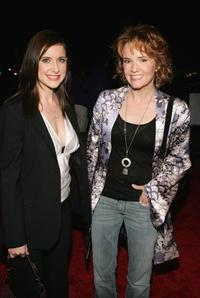 Kellie Martin and Lea Thompson at the Hallmark Channel's TCA Press Tour party.