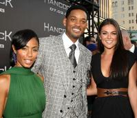 Jada Pinkett Smith, Will Smith and Serinda Swan at the premiere of
