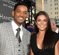 Will Smith and Serinda Swan at the premiere of