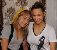 Stella Maeve and Marnette Patterson at the DPA pre-Emmy Gift Lounge in California.