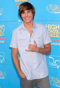 Zac Efron at the Anaheim premiere of