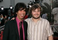 Hector Jimenez and Jack Black at the premiere of