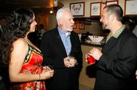 Malcolm McDowell, Yvonne Delarosa and Sam Boyer at the 8th Annual Malibu International Film Festival Award Night.