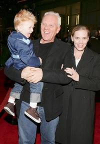 Malcolm McDowell, wife Kelley and son Beckett Taylor at the premiere of