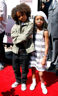 Jaden Smith and Willow Smith at the premiere of