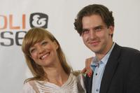 Heike Makatsch and Dan Stevens at the photocall of