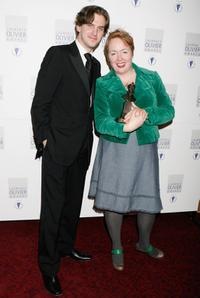 Dan Stevens and Rae Smith at the Laurence Olivier Awards.
