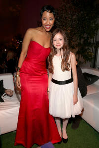 Tracey N. Heggins and Mackenzie Foy at the California premiere of