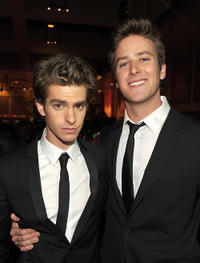 Andrew Garfield and Armie Hammer Jr. at the 22nd Annual Palm Springs International Film Festival Awards Gala.