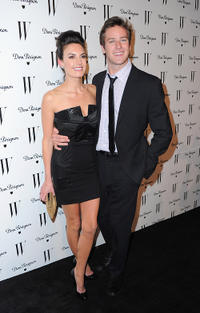 Elizabeth Chamber and Armie Hammer Jr. at the W Magazine Golden Globe Awards party.