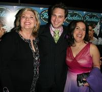 Debra Monk, Thomas Sadoski and Olga Merediz at the after party opening of