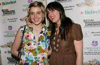 Greta Gerwig and Ry Russo-Young at the Night of 1,000 Stars during the Sarasota Film Festival.