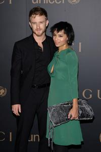 Ben Foster and Zoe Kravitz at the reception to benefit UNICEF hosted by Gucci during the Mercedes-Benz Fashion Week Fall 2008.