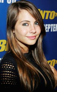 Willa Holland at the premiere of