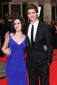 Andrew Garfield and guest at the British Academy Television Awards 2008.