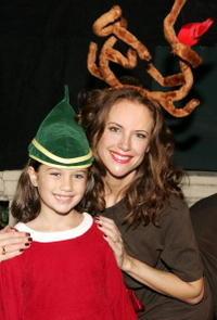 Ella Travolta and Kelly Preston at the Church of Scientology's Christmas Stories XIV.