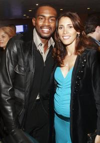Bill Bellamy and Kristen Bellamy at the football legend Jim Brown's surprise birthday party.