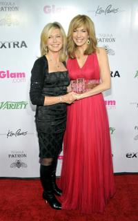 Olivia Newton-John and Leeza Gibbons at the 1st Annual Night To Make a Difference at Mr. Chow.