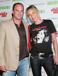 Connie Nielsen and Chris Meloni at the special screening of
