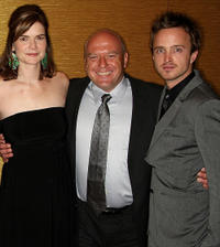 Betsy Brandt, Dean Norris and Aaron Paul at the 25th Annual Television Critics Association Awards in California.