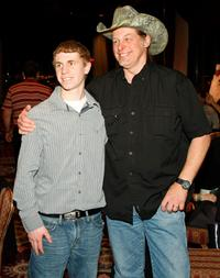Adam Gallant and Ted Nugent at the National Bowhunters Hall of Fame during the National Field Archery Association's World Archery Festival.