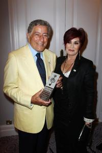 Tony Bennett and Sharon Osbourne at the Nordoff Robbins Silver Clef Awards 2010.