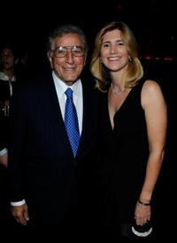 Tony Bennett and Susan Crow at the Natalie Cole's 60th Birthday Celebration.