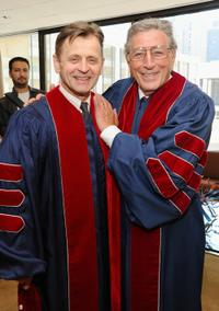 Mikhail Baryshnikov and Tony Bennett at the 2010 commencement ceremony in New York City.