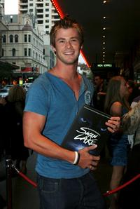 Chris Hemsworth at the opening night of Matthew Bourne's Swan Lake.