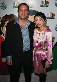 Trey Parker and his wife Ema at the Comedy Central celebration of