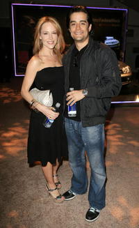 Julie Benz and Rich Orosco at the Mercedes-Benz Fashion Week.