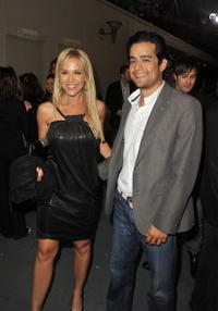 Julie Benz and Guest at the Spike TV's 2008 Scream Awards.