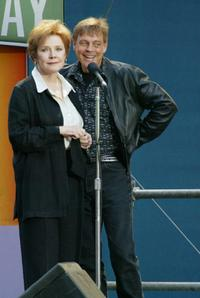 Polly Bergen and Mark Hamill at the 12th Annual Broadway.