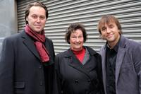 Christian McKay, Chris Welles Feder and Richard Linklater at the