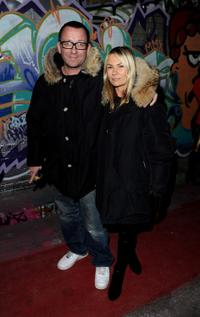 Sean Pertwee and Guest at the UK premiere of