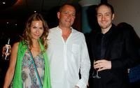 Jackie Pertwee, Sean Pertwee and Derren Brown at the UK premiere of